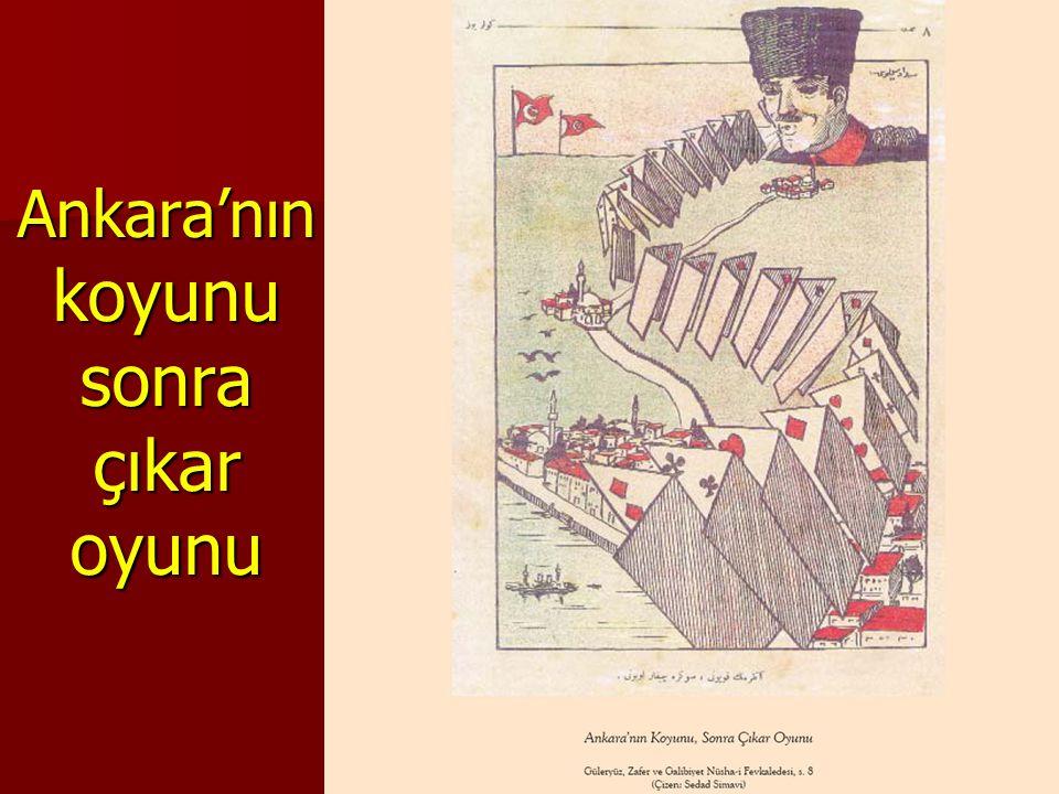 Ankara'nın koyunu sonra çıkar oyunu