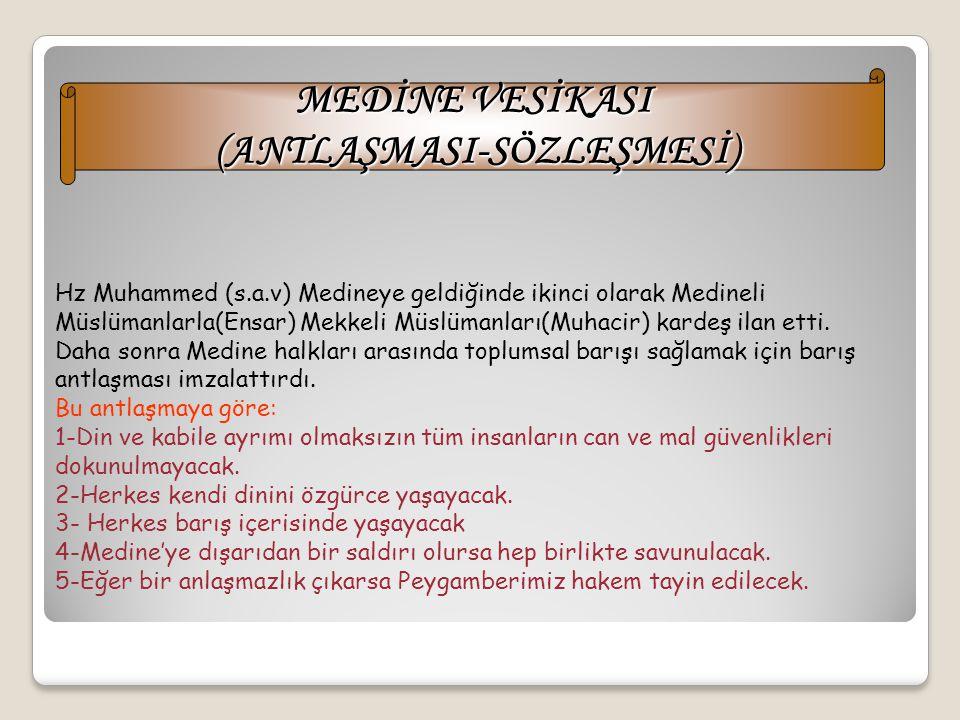 HİCRET 'İN SONUÇLARI 1-Hicret sayesinde Müslümanlar, Mekkeli Müşriklerin zülüm ve işkencelerinden kurtulmuşlardır. 2-İslam dininin daha hızlı ve kolay