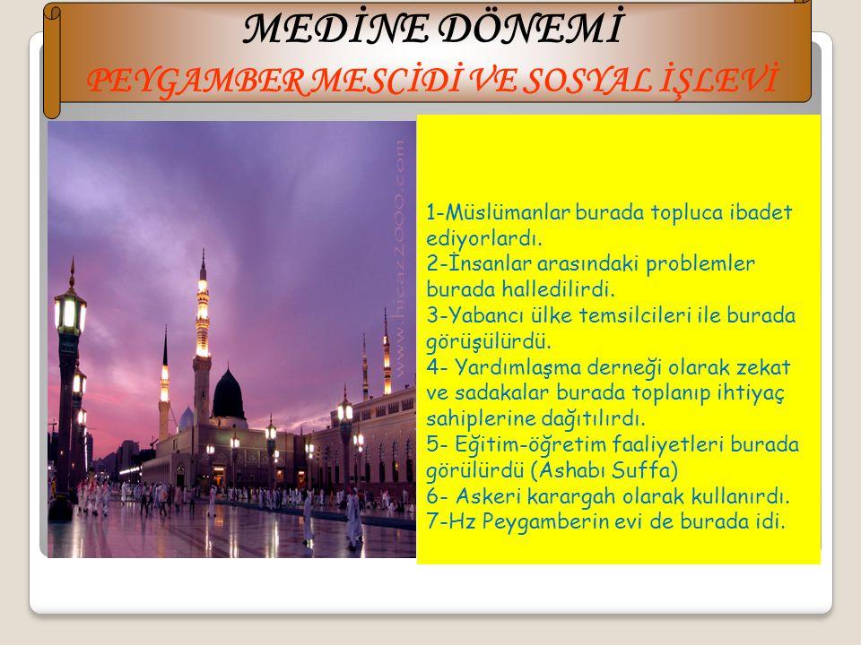 Hz Muhammed (s.a.v) Medineye geldiğinde ikinci olarak Medineli Müslümanlarla(Ensar) Mekkeli Müslümanları(Muhacir) kardeş ilan etti. Daha sonra Medine