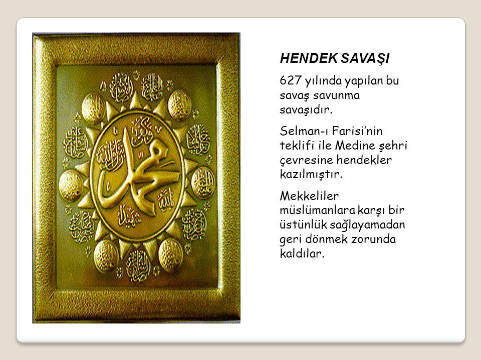 UHUT SAVAŞI 625 yılında yapılan bu savaş müslümanların mağlubiyeti ile sonuçlanmıştır. 72 müslüman şehit olmuştur. Peygamberimizin amcası Hz. Hamza şe