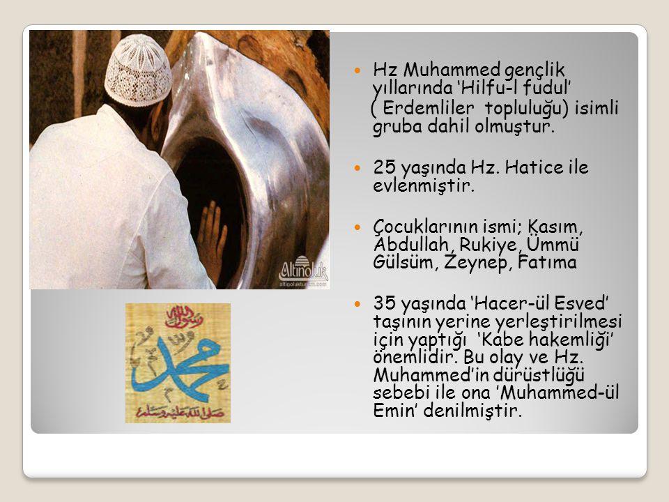 Hz. Muhammed, 12 yaşlarında amcası ile birlikte ticaret için Şam'a gitmiştir. 17 yaşında da Amcası Zübeyirle Yemen'e gitmiştir.