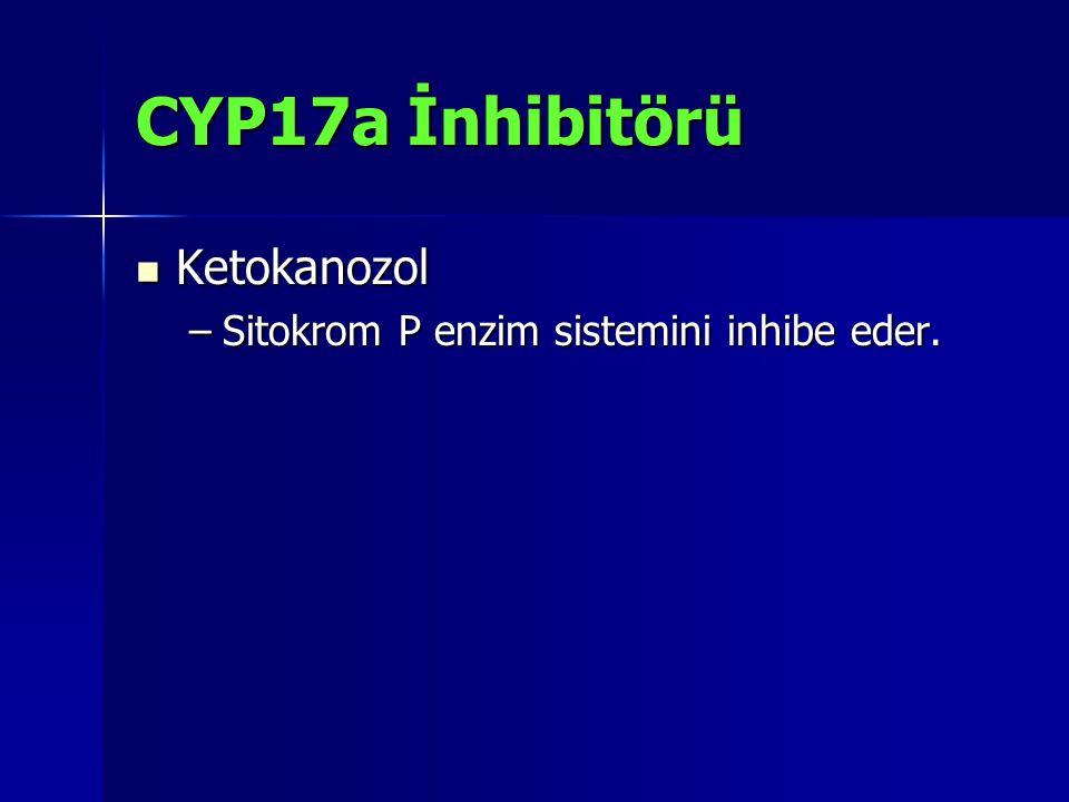 CYP17a İnhibitörü Ketokanozol Ketokanozol –Sitokrom P enzim sistemini inhibe eder.