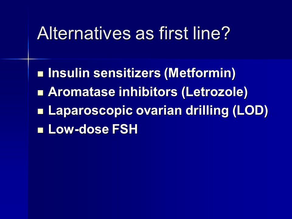 Alternatives as first line.