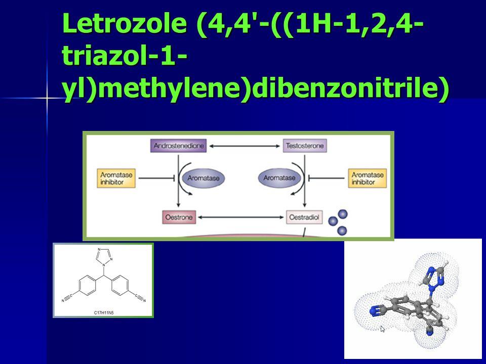 Letrozole (4,4 -((1H-1,2,4- triazol-1- yl)methylene)dibenzonitrile)