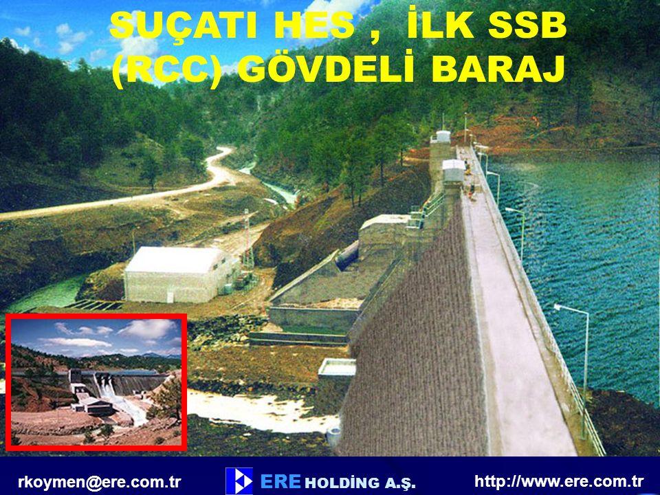 ERE HOLDİNG A.Ş. SUÇATI HES, İLK SSB (RCC) GÖVDELİ BARAJ http://www.ere.com.tr