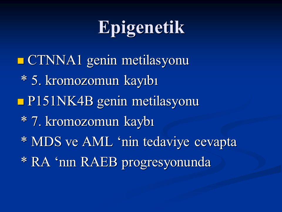 MDS'ye Neden olan Faktörler Herediter Herediter - Down Sendromu (trizomi 21) - Nörofibromatozis 1 - Familial monozomi 7 - Fanconi anemi - Ataksi-telenjiektazi - Fanconi anemisi - Bloom sendromu