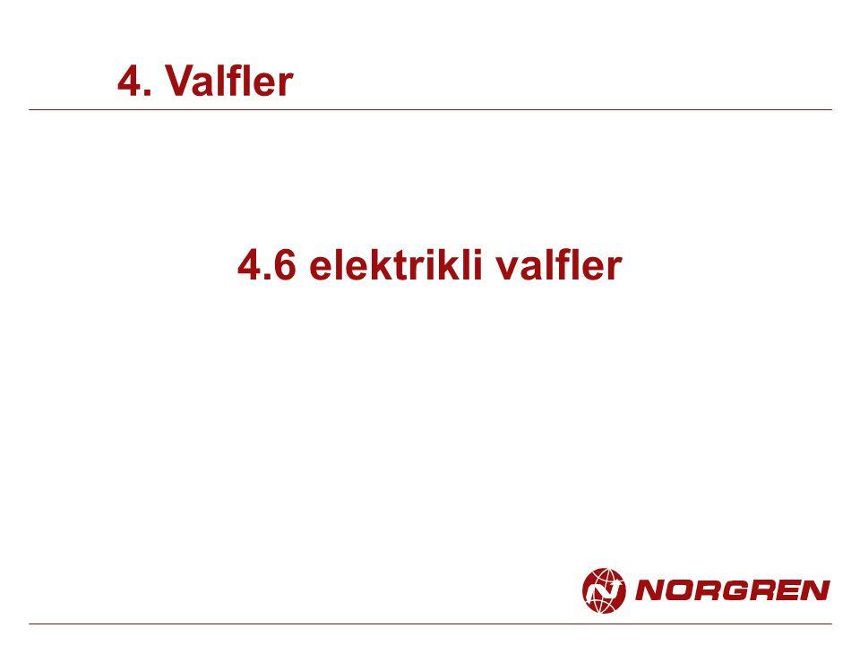 4.6 elektrikli valfler 4. Valfler