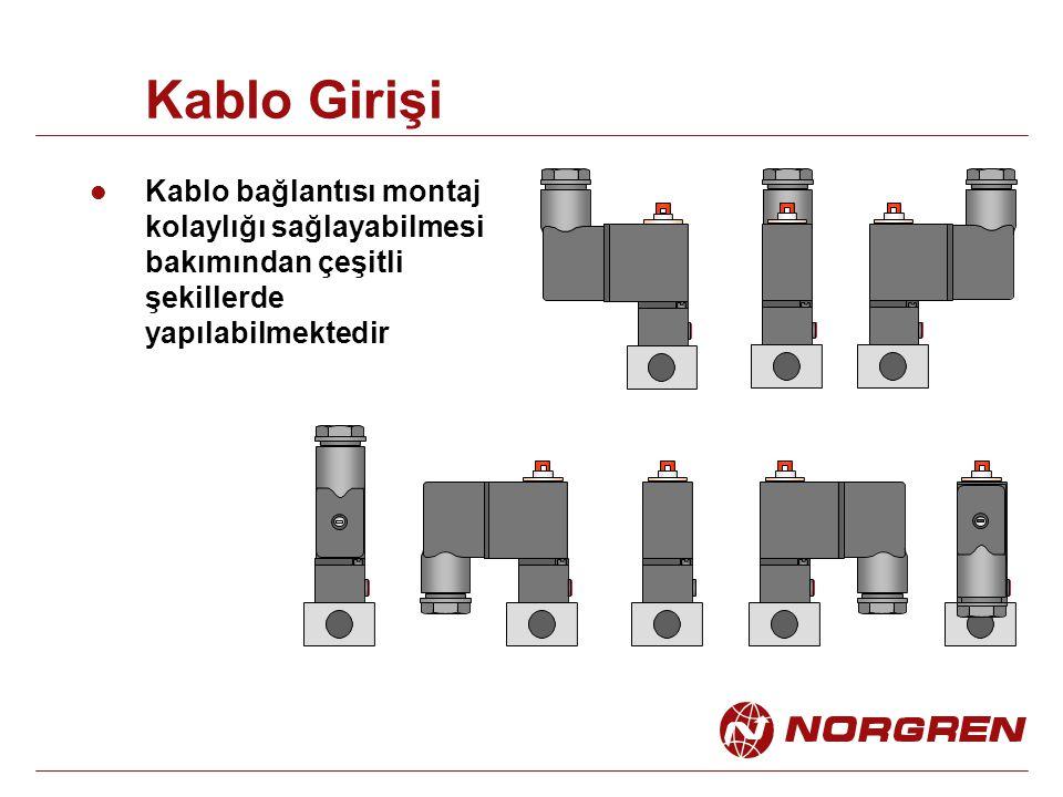 Kablo Girişi Kablo bağlantısı montaj kolaylığı sağlayabilmesi bakımından çeşitli şekillerde yapılabilmektedir