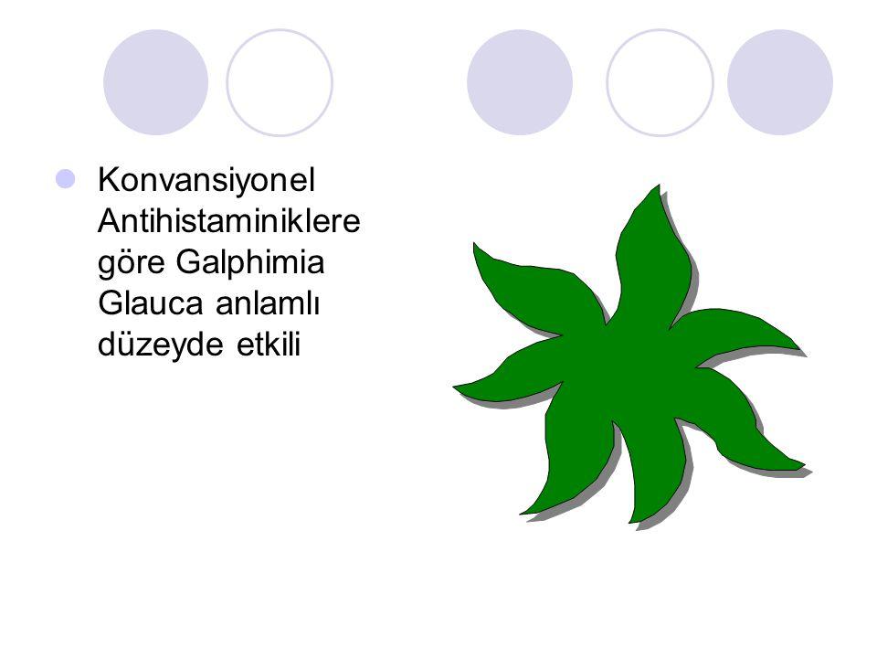 Konvansiyonel Antihistaminiklere göre Galphimia Glauca anlamlı düzeyde etkili