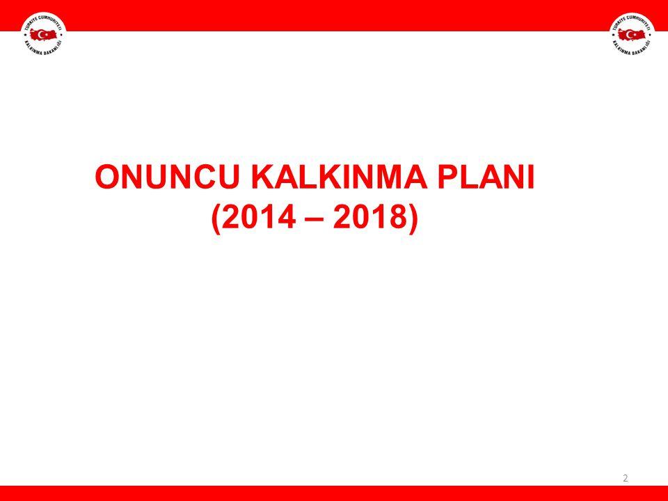 2 ONUNCU KALKINMA PLANI (2014 – 2018)