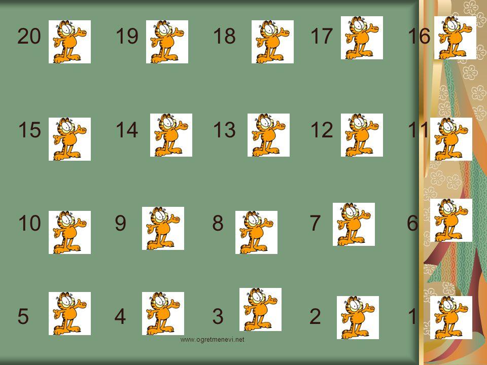 www.ogretmenevi.net Şimdi de 50'den 5'e kadar 5'er 5'er geriye doğru sayalım.