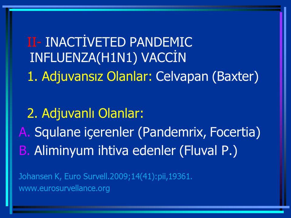 II- INACTİVETED PANDEMIC INFLUENZA(H1N1) VACCİN 1.