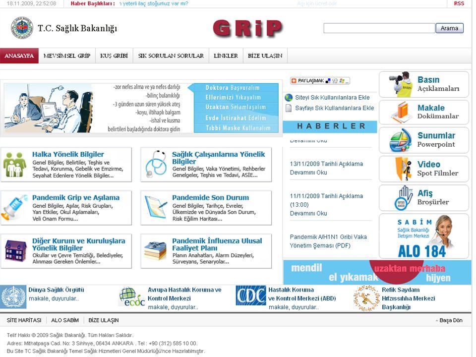 Bilgilenmek için güvenilir kaynaklar www.cdc.gov www.who.int www.grip.saglik.gov.tr