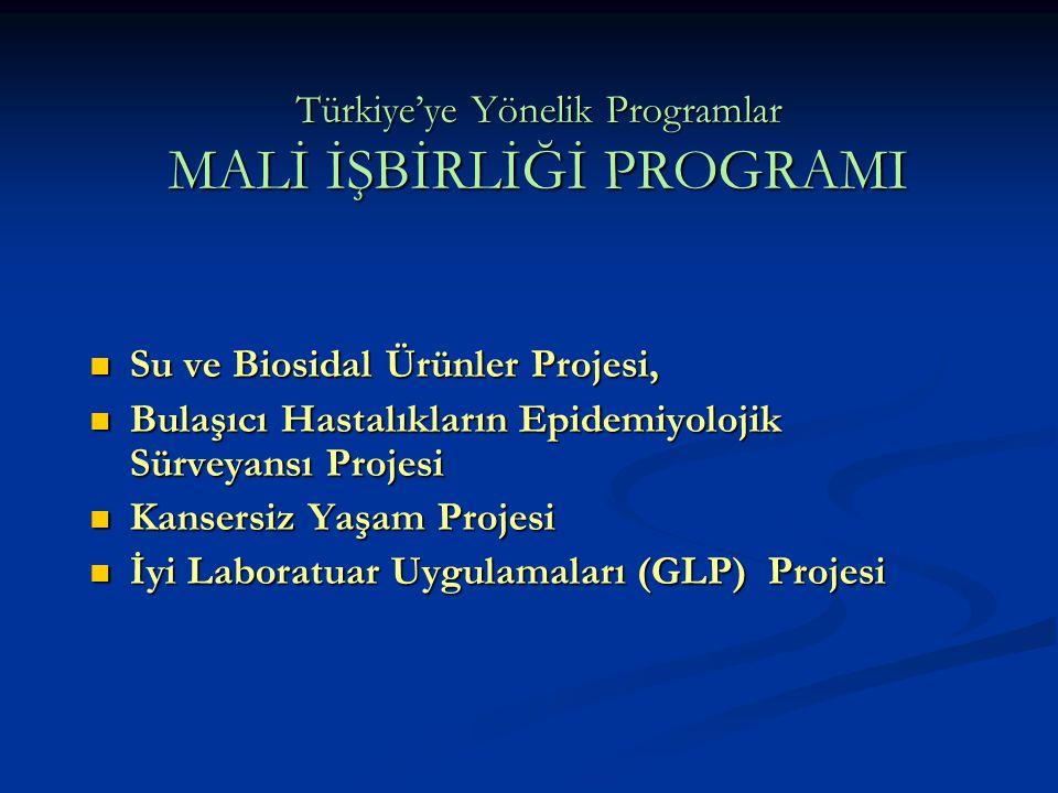Türkiye'ye Yönelik Programlar MALİ İŞBİRLİĞİ PROGRAMI Su ve Biosidal Ürünler Projesi, Su ve Biosidal Ürünler Projesi, Bulaşıcı Hastalıkların Epidemiyo