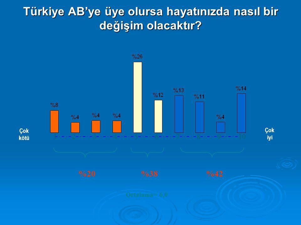 AB'ye girmenin Türkiye'ye en önemli iki yararı ne olacaktır? Baz Yüzde=%192