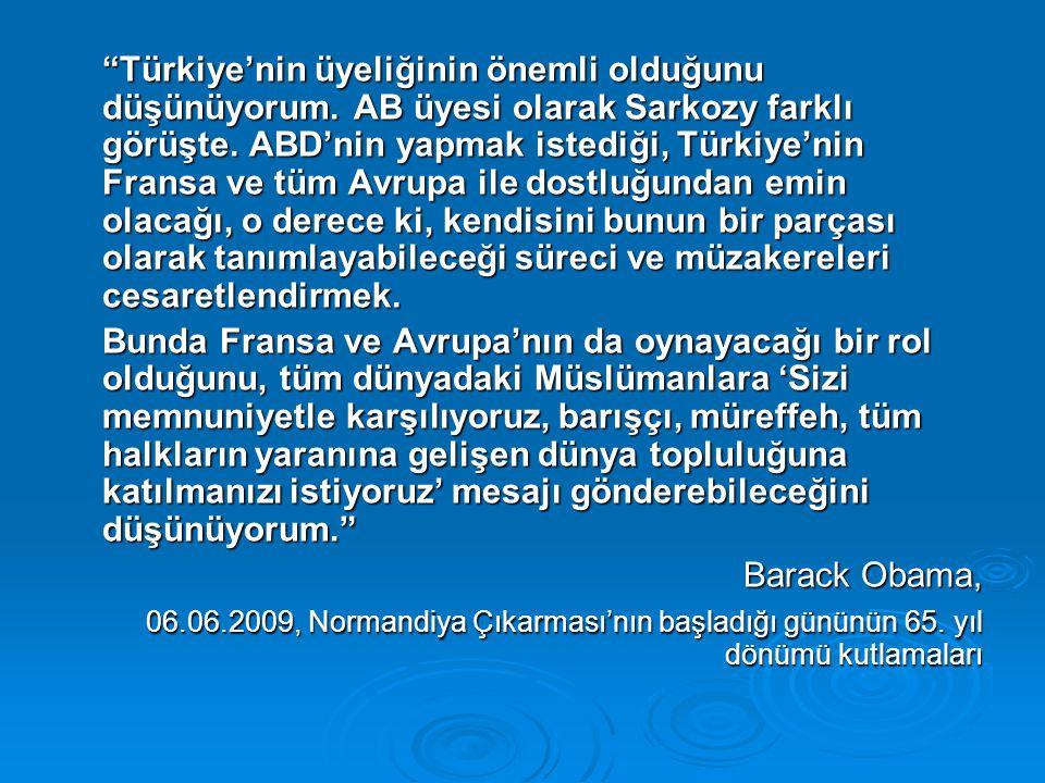 Türkiye'nin Doğu ile Batı arasında köprü olmasında hemfikiriz.