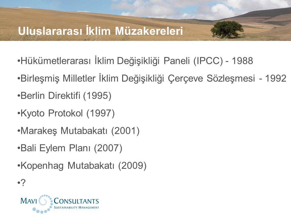 Uluslararası İklim Müzakereleri Hükümetlerarası İklim Değişikliği Paneli (IPCC) - 1988 Birleşmiş Milletler İklim Değişikliği Çerçeve Sözleşmesi - 1992