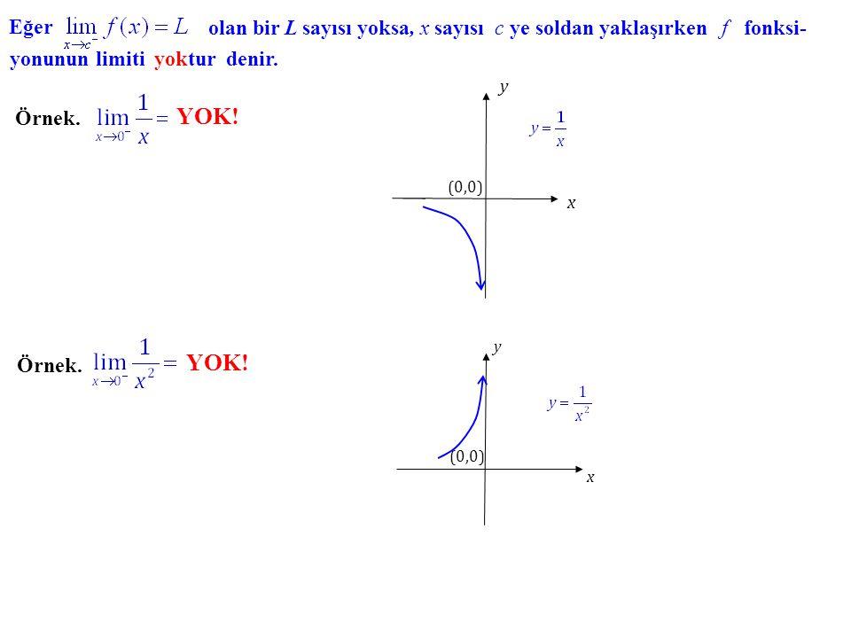 Örnek. y x (0,0) 1 -1 1 Örnek. (5,0) (0,0) x y 0