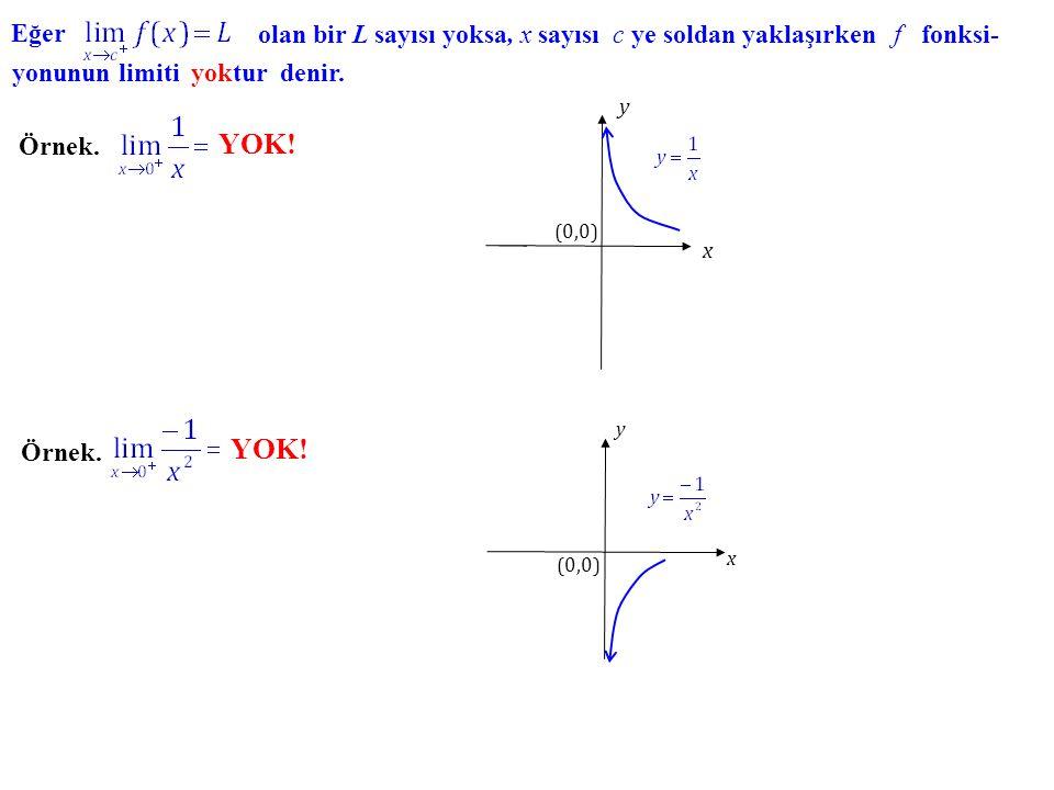 Örnek. y x (0,0) 2 -1 1 1 Örnek. (0,0) x y 0