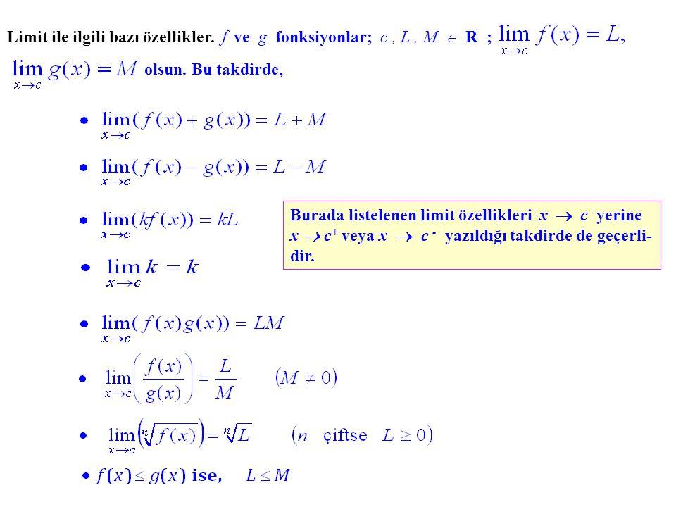 Örnek.Öyle bir grafik ( y = f(x) f(x) ) çiziniz ki, olsun.