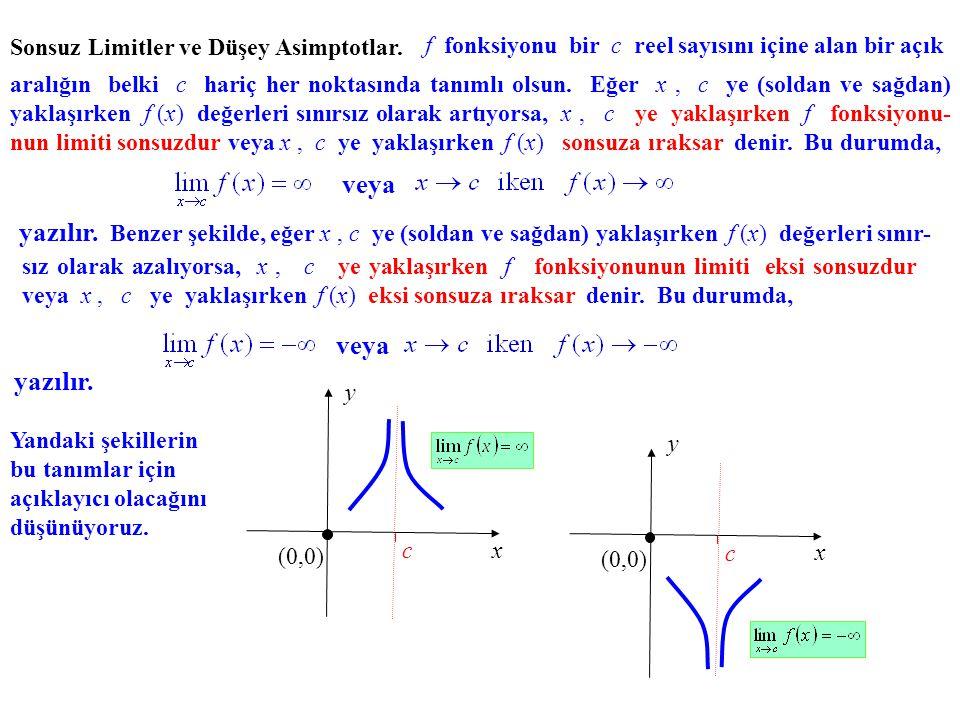 Tanım.Eğer ise, f fonksiyonu x = c'de soldan süreklidir denir.