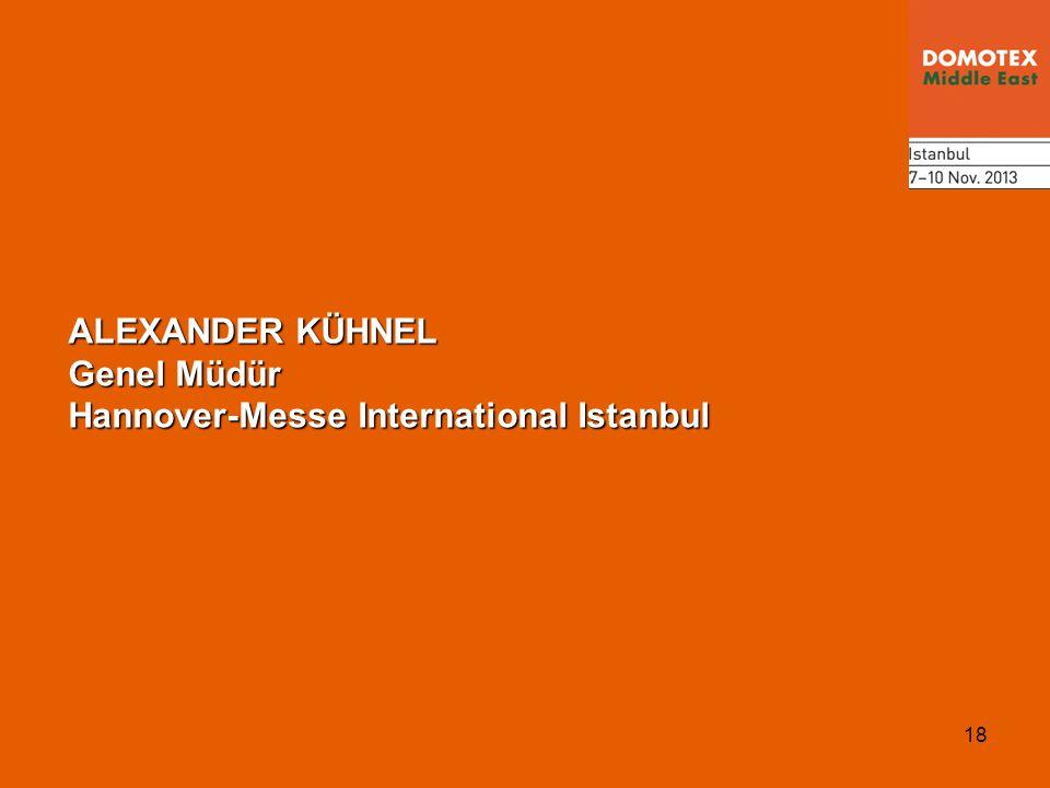 18 ALEXANDER KÜHNEL Genel Müdür Hannover-Messe International Istanbul