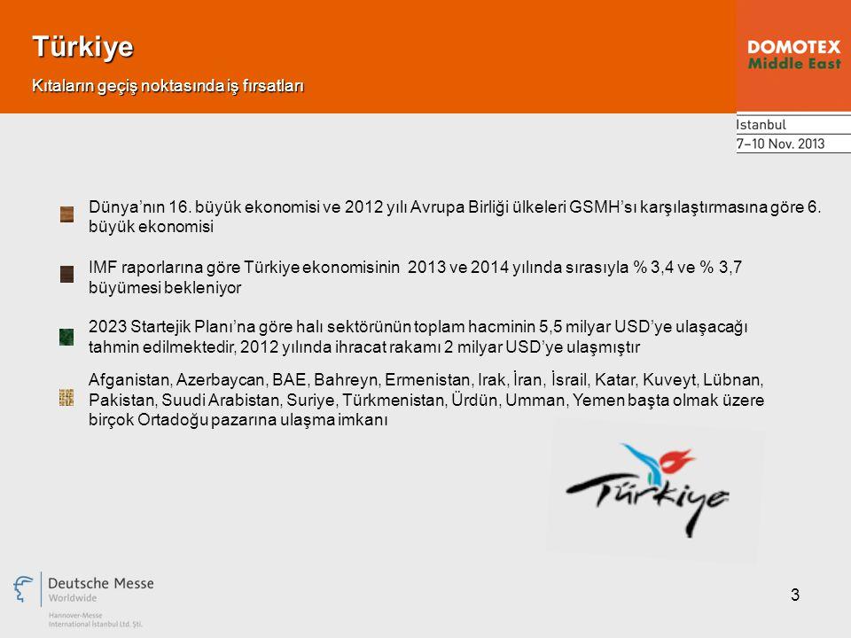3 Türkiye Dünya'nın 16. büyük ekonomisi ve 2012 yılı Avrupa Birliği ülkeleri GSMH'sı karşılaştırmasına göre 6. büyük ekonomisi Kıtaların geçiş noktası