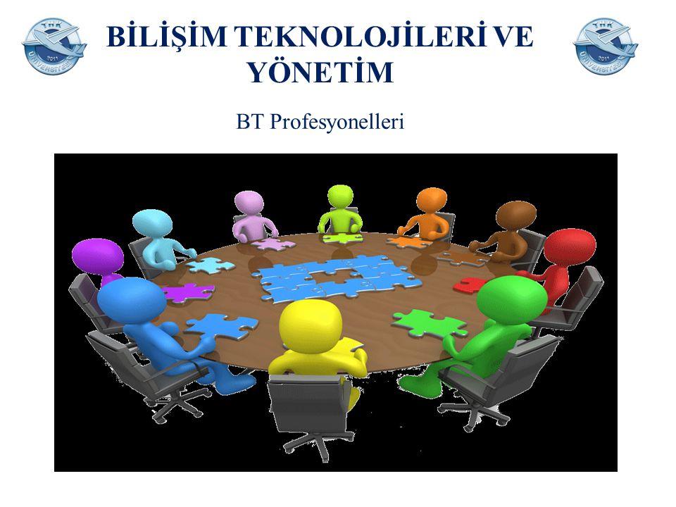 BİLİŞİM TEKNOLOJİLERİ VE YÖNETİM  Yazılım ve uygulama geliştiricileri ve analistleri; sistem analistleri, yazılım geliştiricileri, web ve çoklu ortam geliştiricileri, uygulama programcıları,  Veri tabanı ve ağ uzmanları; veri tabanı tasarımcıları ve yöneticileri, sistem yöneticileri, bilgisayar ağları ile ilgili profesyonel meslek mensupları.