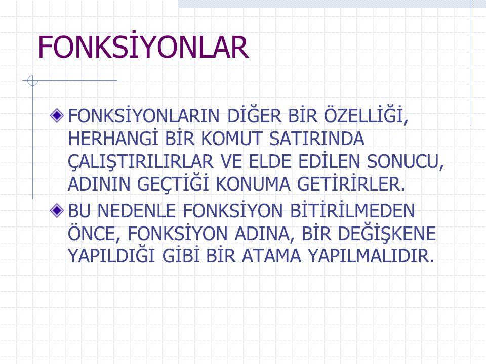ÖRNEK2 sub text1_change() dim kare kare=val(text1.text)^2 text2.text=kare end sub