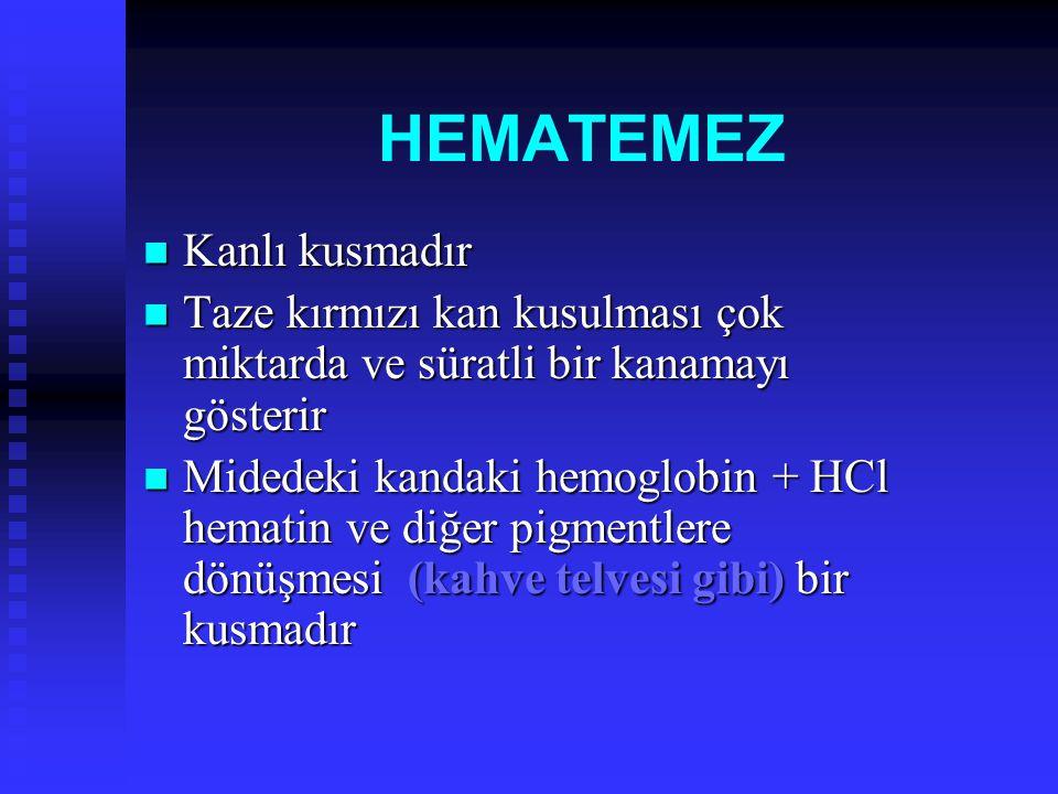 Büyük kavernöz hemanjiomlarda, trom bositler hemanjiom içinde hapsoldukların- dan trombositopeni görülür.