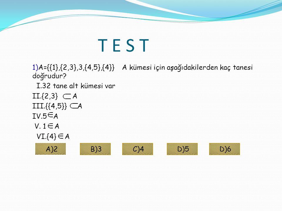 KÜMELERİN FARKI İLE İLGİLİ ÖZELLİKLER 1)A\B= 2)E-A= 3)A-A= 4)A- =A 5) -A= 6) 7) 8) 9) 10) 11)