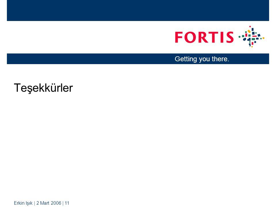 Erkin Işık | 2 Mart 2006 | 11 Getting you there. Teşekkürler