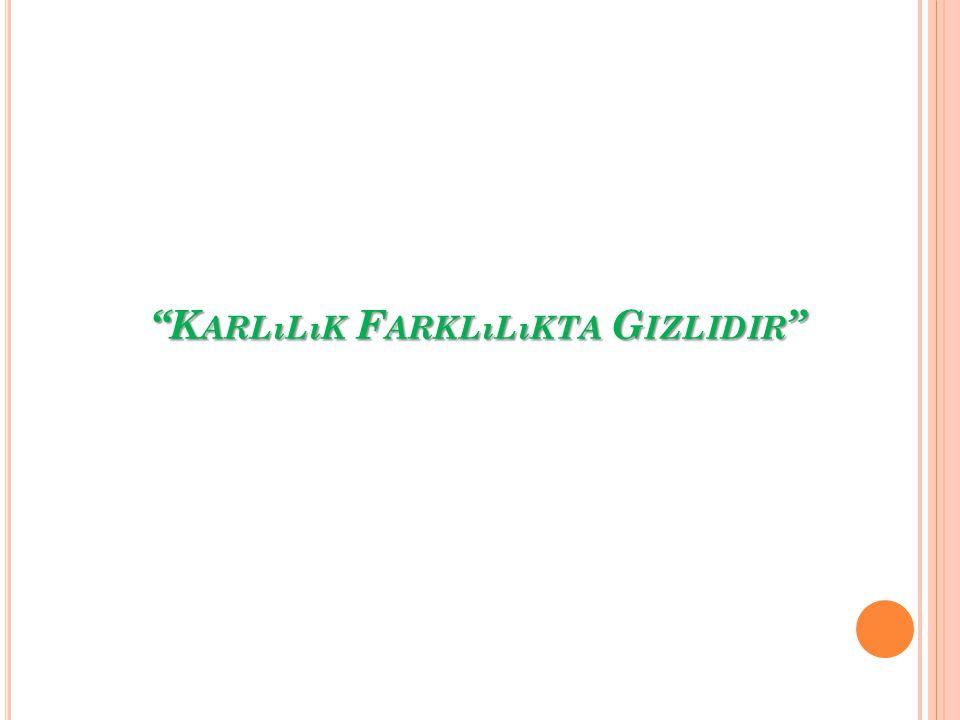 """""""K ARLıLıK F ARKLıLıKTA G IZLIDIR """""""