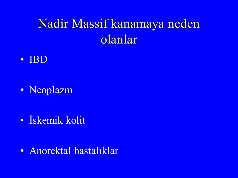IB kanaması Anjiodispazi %70-80 Jejunoileal divertikül Meckel divertikülü Neoplazi Crohn Aortoenterik fistül