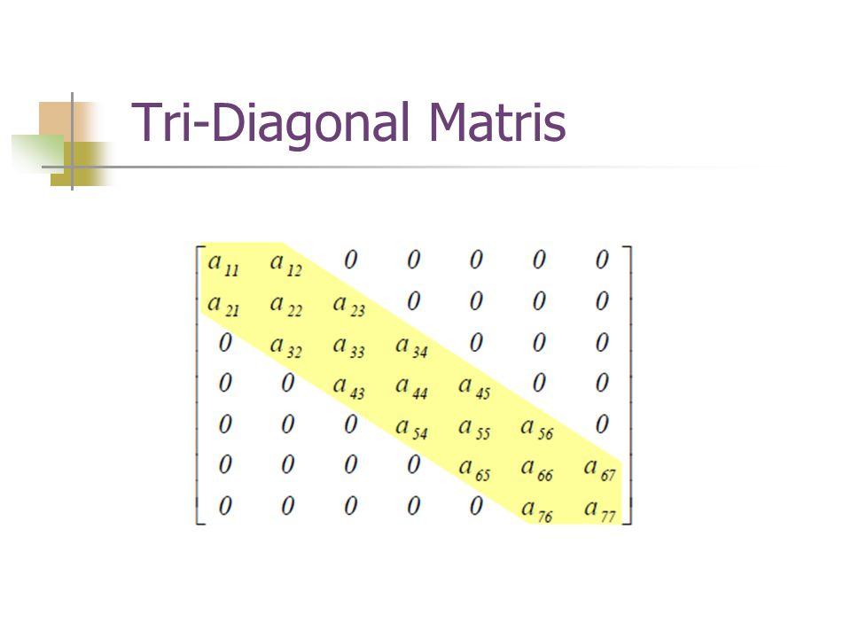 Tri-Diagonal Matris
