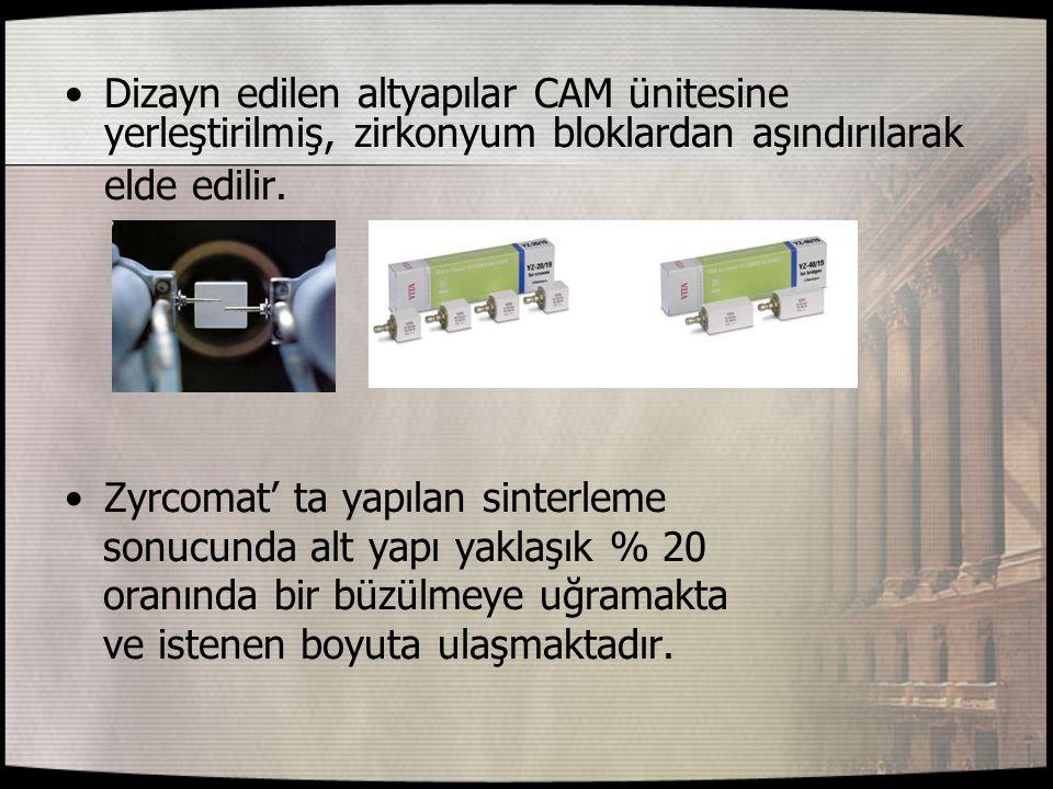 Geleneksel simantasyon yapılmak isteniyor ise,özellikle cam iyonomer siman önerilmektedir.