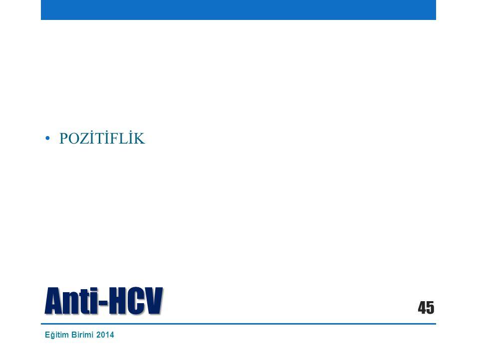 Anti-HCV POZİTİFLİK 45 Eğitim Birimi 2014