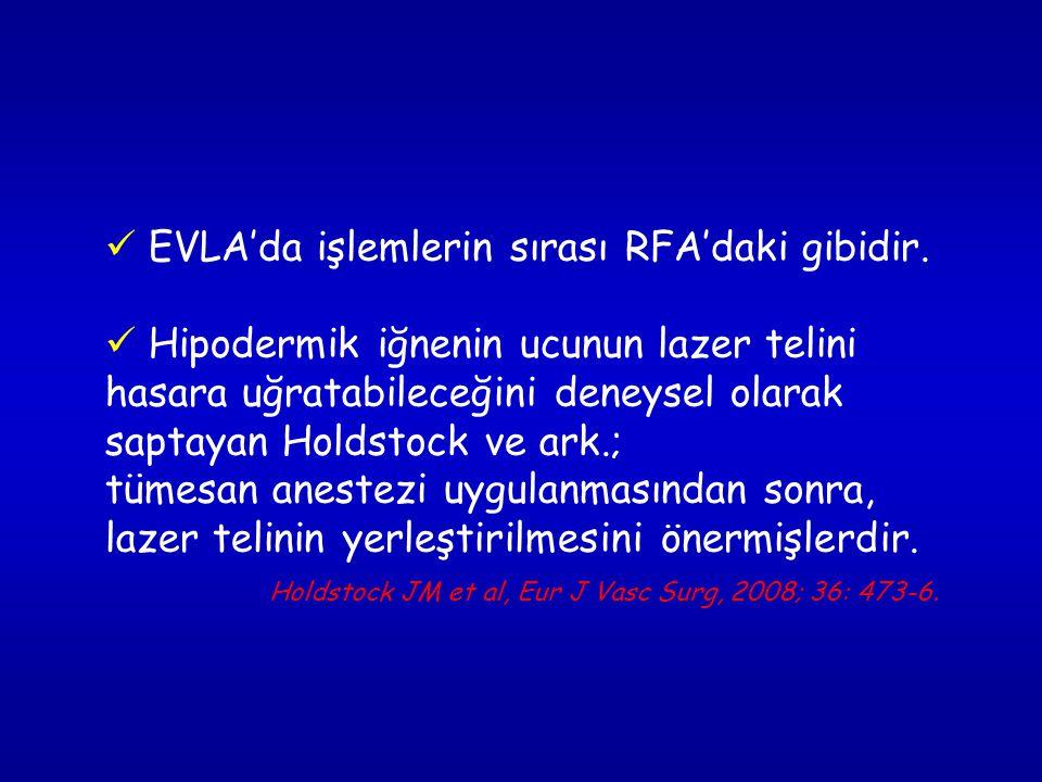 EVLA'da işlemlerin sırası RFA'daki gibidir.