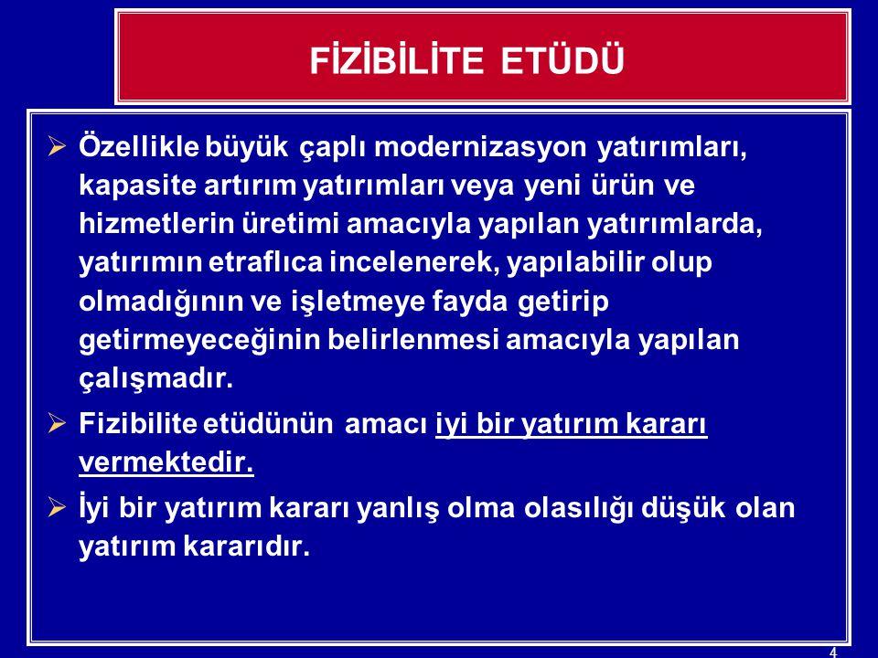 25 FİZİBİLİTE ETÜDÜ 3.5.