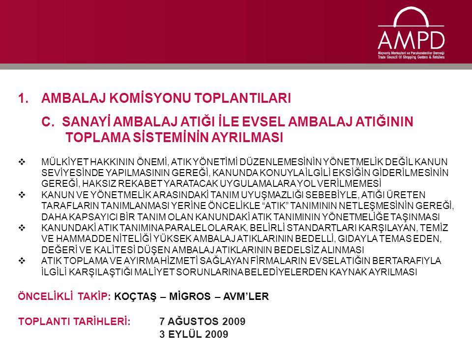 1.AMBALAJ KOMİSYONU TOPLANTILARI D.