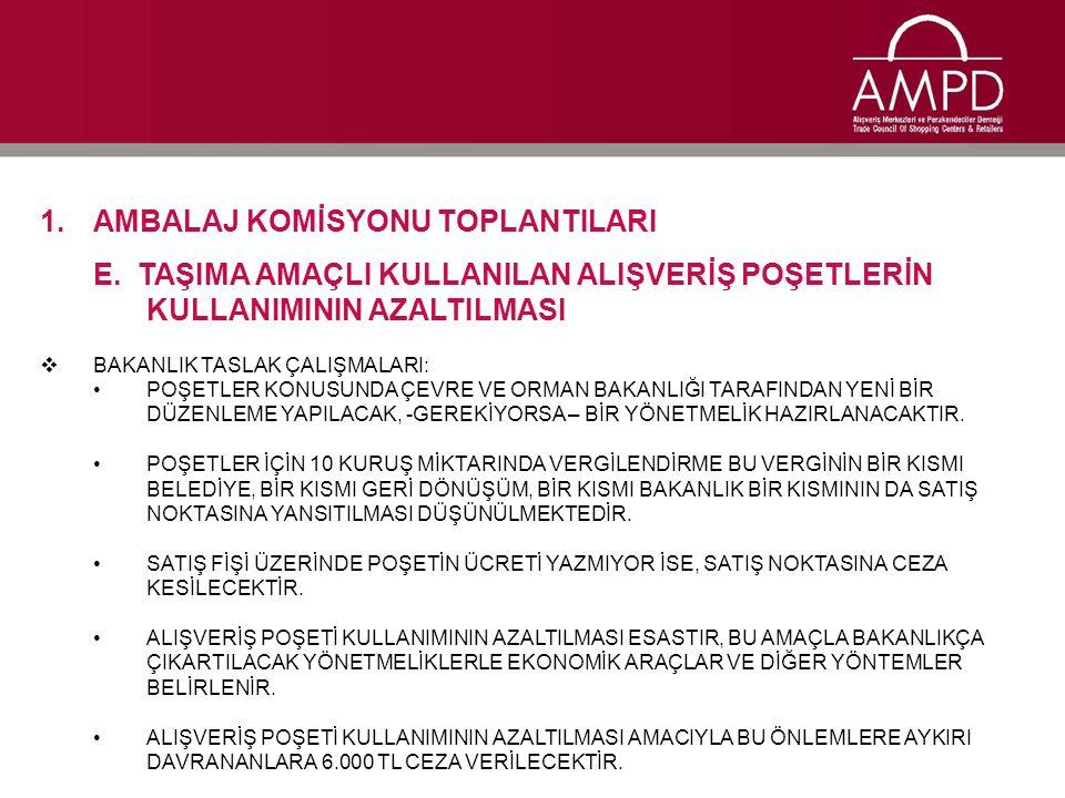 1.AMBALAJ KOMİSYONU TOPLANTILARI F.