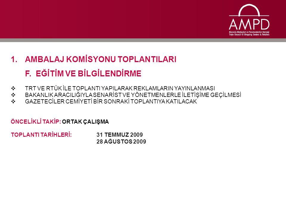 1.AMBALAJ KOMİSYONU TOPLANTILARI G.