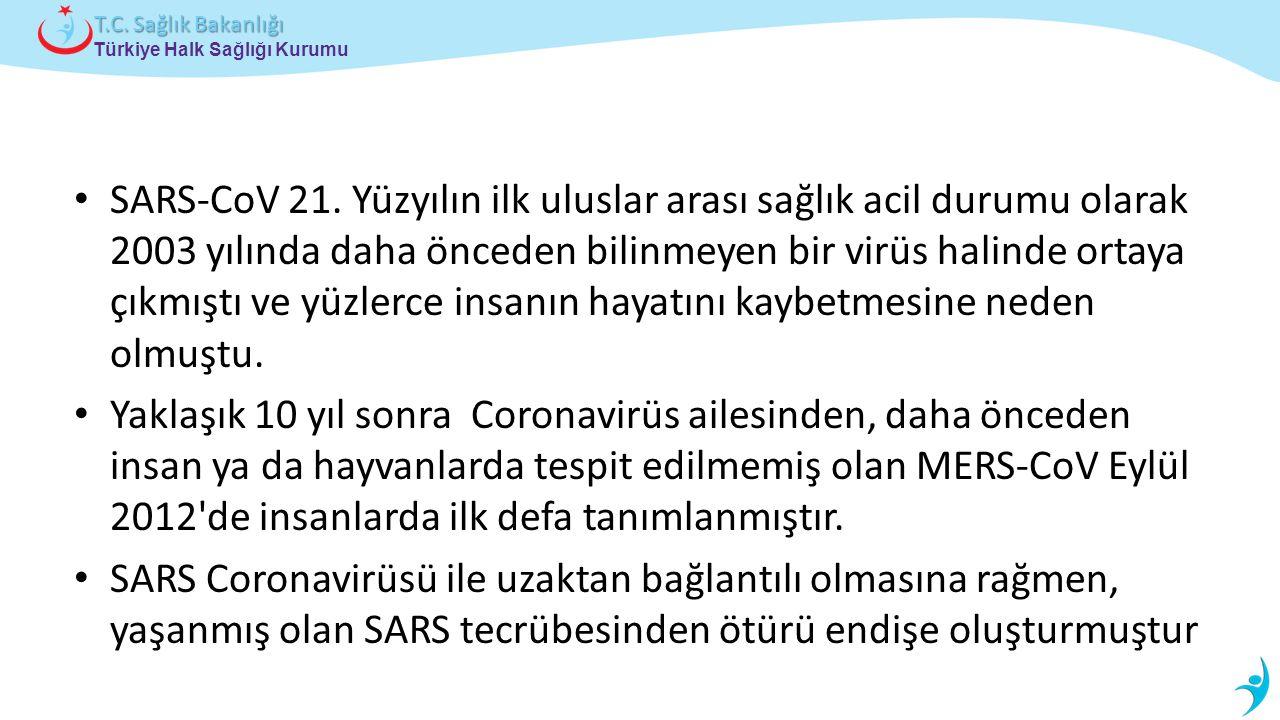 Türkiye Halk Sağlığı Kurumu T.C. Sağlık Bakanlığı SARS-CoV 21.