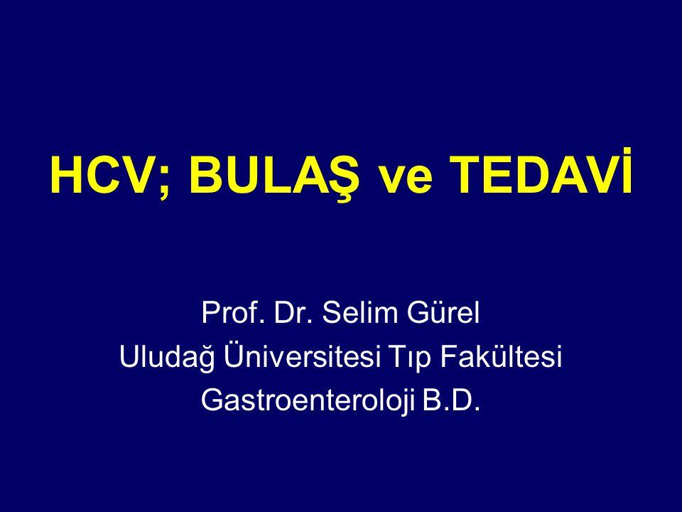 HCV; BULAŞ ve TEDAVİ Prof. Dr. Selim Gürel Uludağ Üniversitesi Tıp Fakültesi Gastroenteroloji B.D.