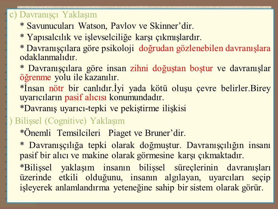 ) Vygotsky 'nin Zihinsel Gelişim Kuramı 3.