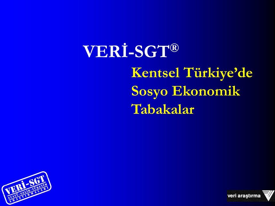 Kentsel Türkiye'de Sosyo Ekonomik Tabakalar VERİ-SGT ®