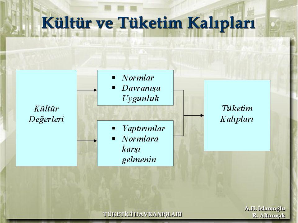 A.H. İslamoğlu R. Altunışık TÜKETİCİ DAVRANIŞLARI Kültür ve Tüketim Kalıpları
