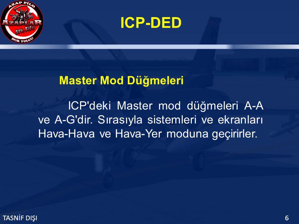 ICP-DED TASNİF DIŞI6 ICP deki Master mod düğmeleri A-A ve A-G dir.
