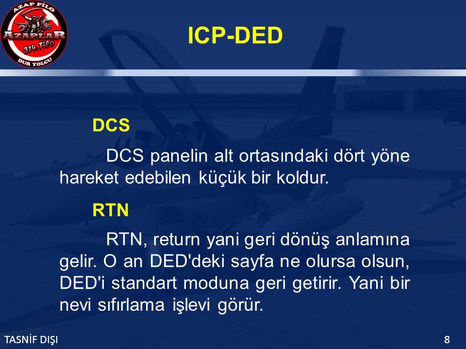 ICP-DED TASNİF DIŞI8 DCS panelin alt ortasındaki dört yöne hareket edebilen küçük bir koldur.