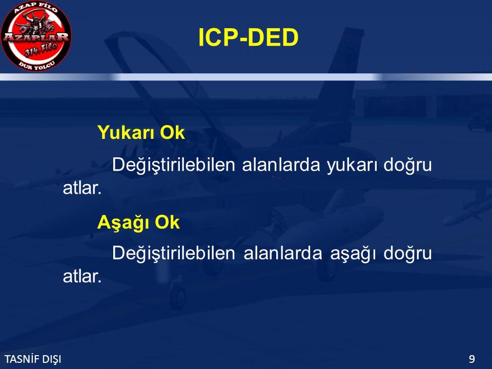 ICP-DED TASNİF DIŞI9 Değiştirilebilen alanlarda yukarı doğru atlar.